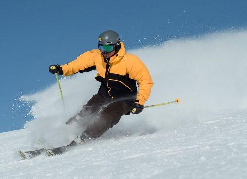 man using ski